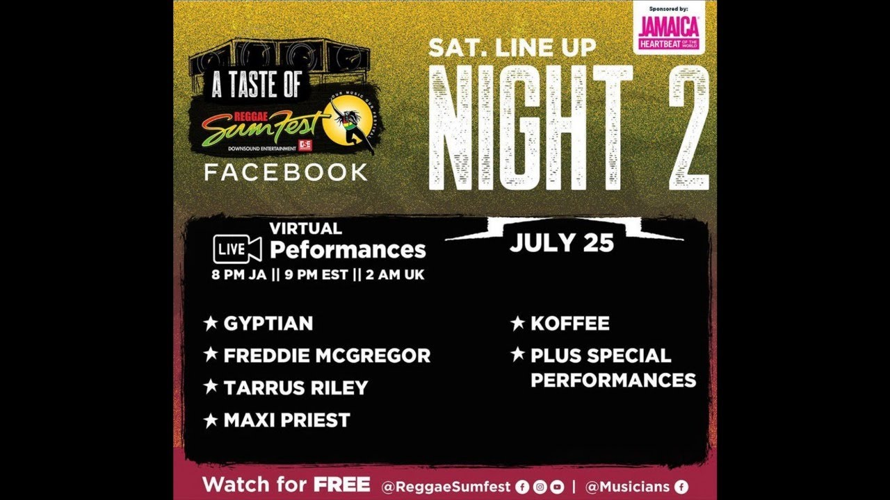 A Taste of Reggae Sumfest Night 2