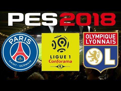 PES 2018 - 2017-18 Ligue 1 - PSG vs OLYMPIQUE LYONNAIS