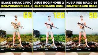 XIAOMI BLACK SHARK 2 PRO vs ASUS ROG PHONE 2 vs NUBIA RED MAGIC 3S -