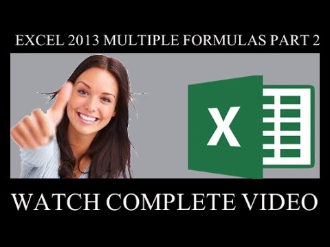 Microsoft Excel 2nd Cl Apply Multiplication Formula Urdu Hindi Tutorials