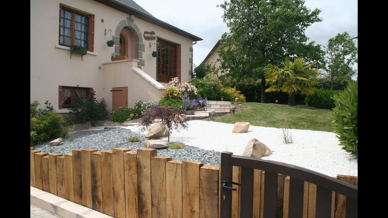 Am nagement entr e de maison en traverse paysag re youtube - Amenagement entree jardin ...
