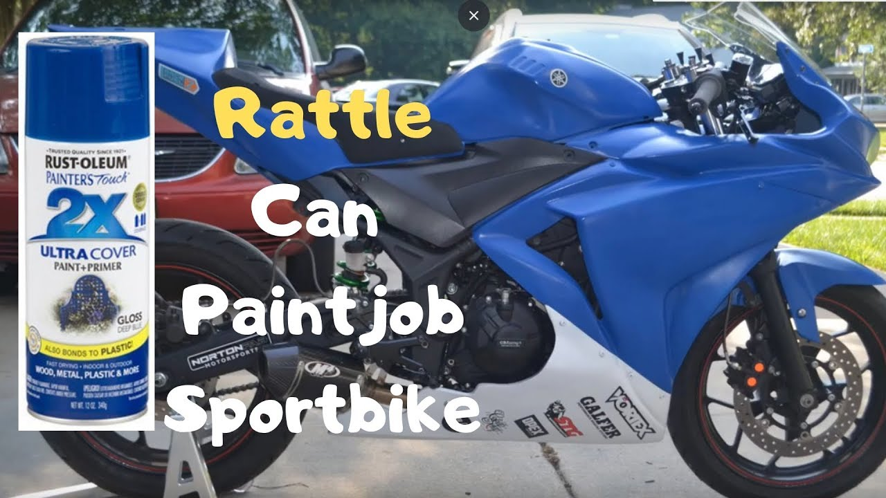 2015 Yamaha YZF R3 Track Bike Rattle Can Paint Track Fairings Spray Paint  Bodywork