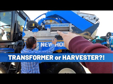 How A Grape Harvester Works | New Holland Braud Opti-Grape
