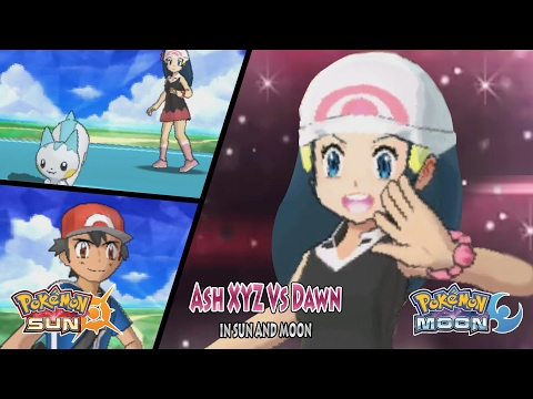 Pokemon Sun and Moon Trainer Ash Vs Dawn (Ash XYZ)