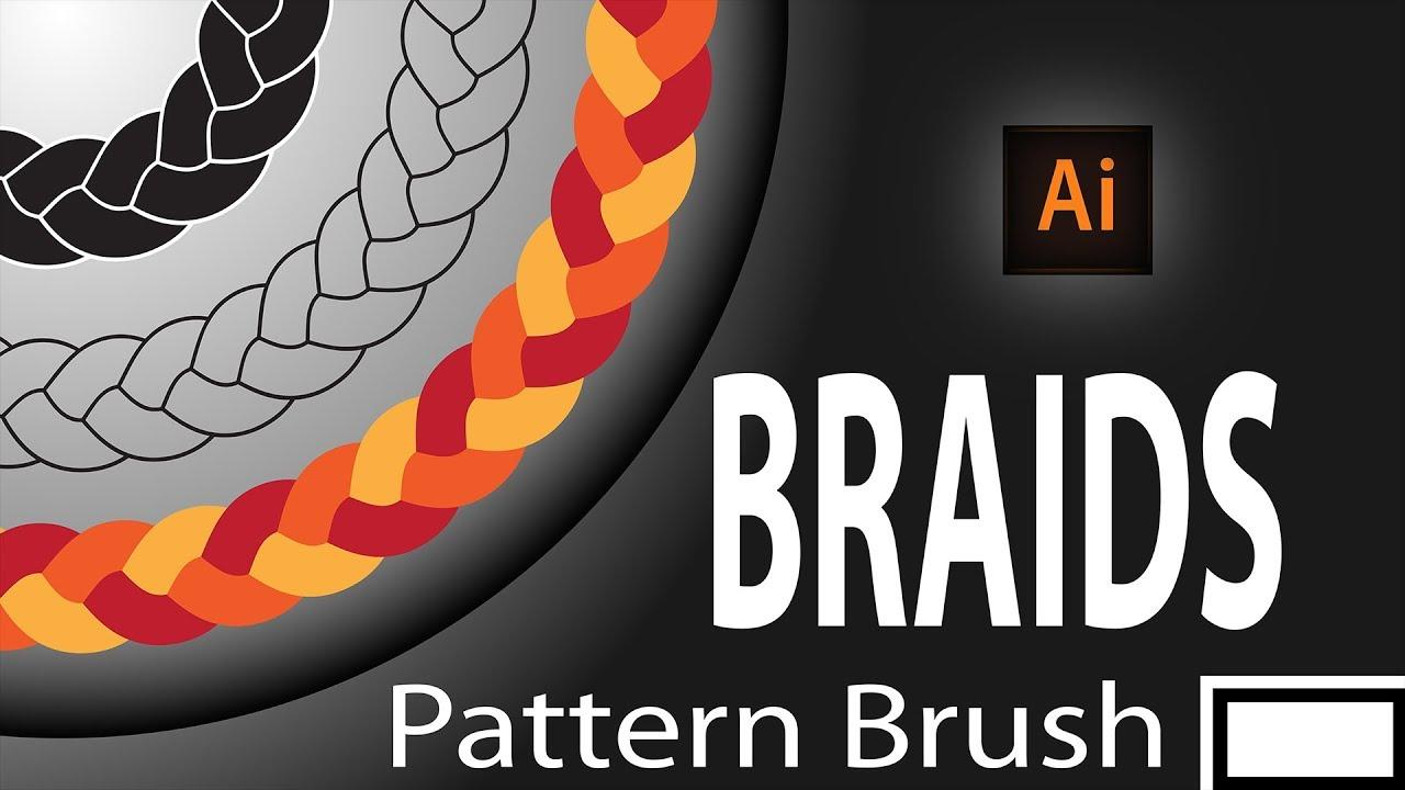 illustrator braid brush, making braid pattern brush