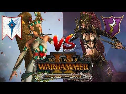 High Elves vs Dark Elves | Total War Warhammer 2 - The Queen &  The Crone DLC