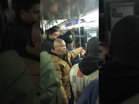 Two Black Men Fight Inside an NYC Subway!!!!