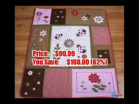 Boutique Brand New GEENNY LadyBug Flower 13PCS CRIB BEDDING SET