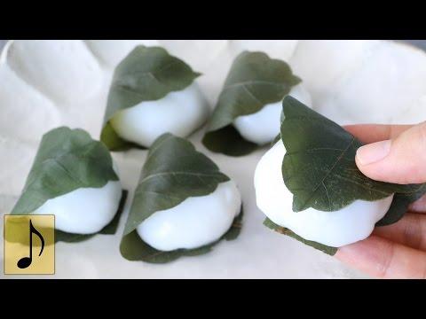 How to make Stretchy Squishy Kashiwa Mochi (rice cakes wrapped in oak leaf)
