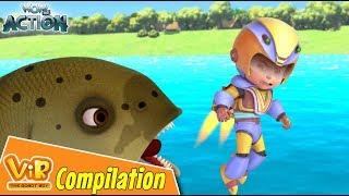 Vir The Robot Boy   Non Stop Action   Cartoon For Kids   Compilation 24