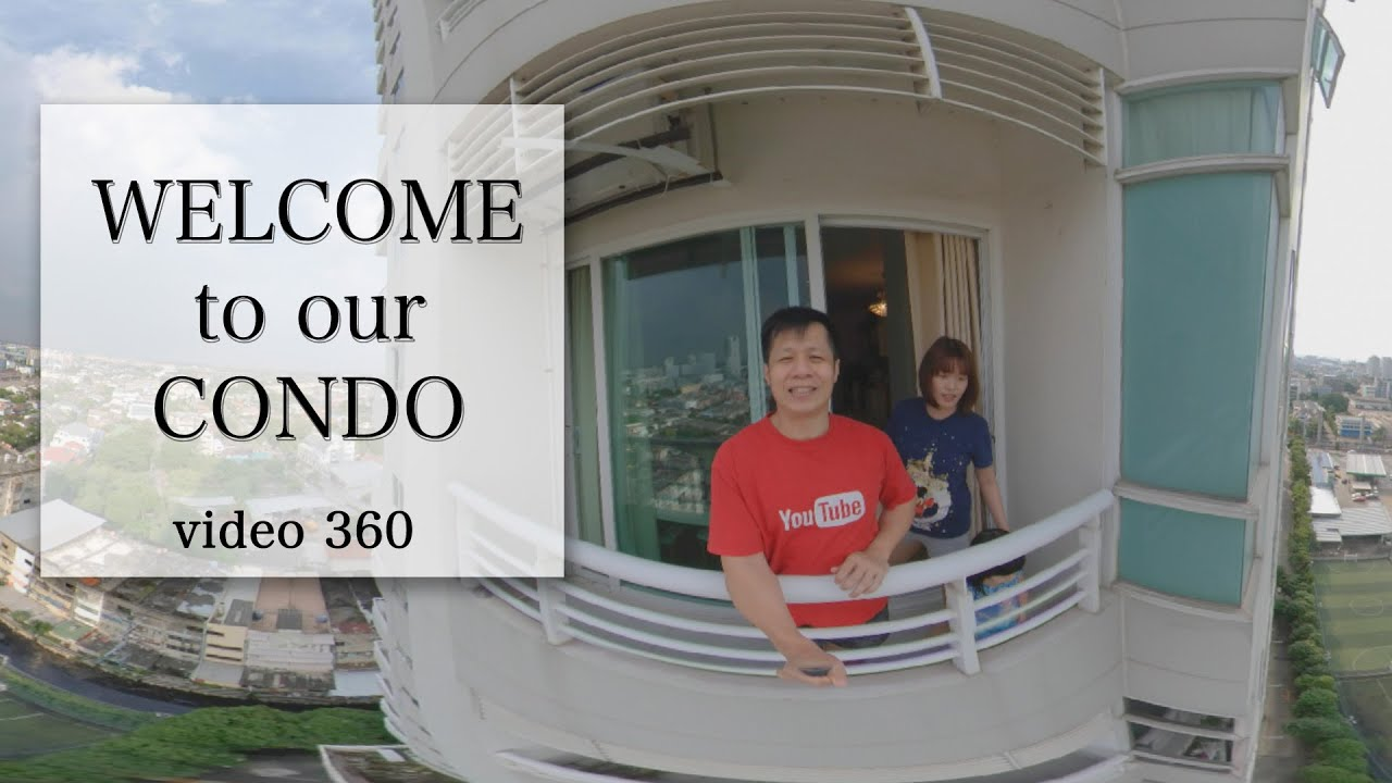 WELCOME TO OUR CONDO [360 video] - room tour