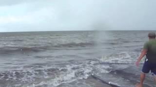 Pesca com rede de arrasto - Praia de Fagundes