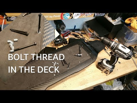 Bolt thread in the deck. Howto fix the enclosure to skateboard..