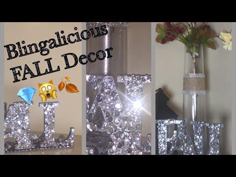 💎DIY Glam FALL Letters 💎 Dazzling Decor Ideas💎