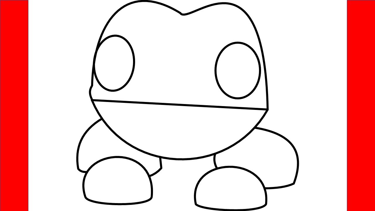 How To Draw A Frog From Roblox Adopt Me - Step By Step ...
