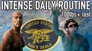 I followed David Goggins' PRE NAVY SEAL daily routine... *5,000+ CALORIES BURNED*