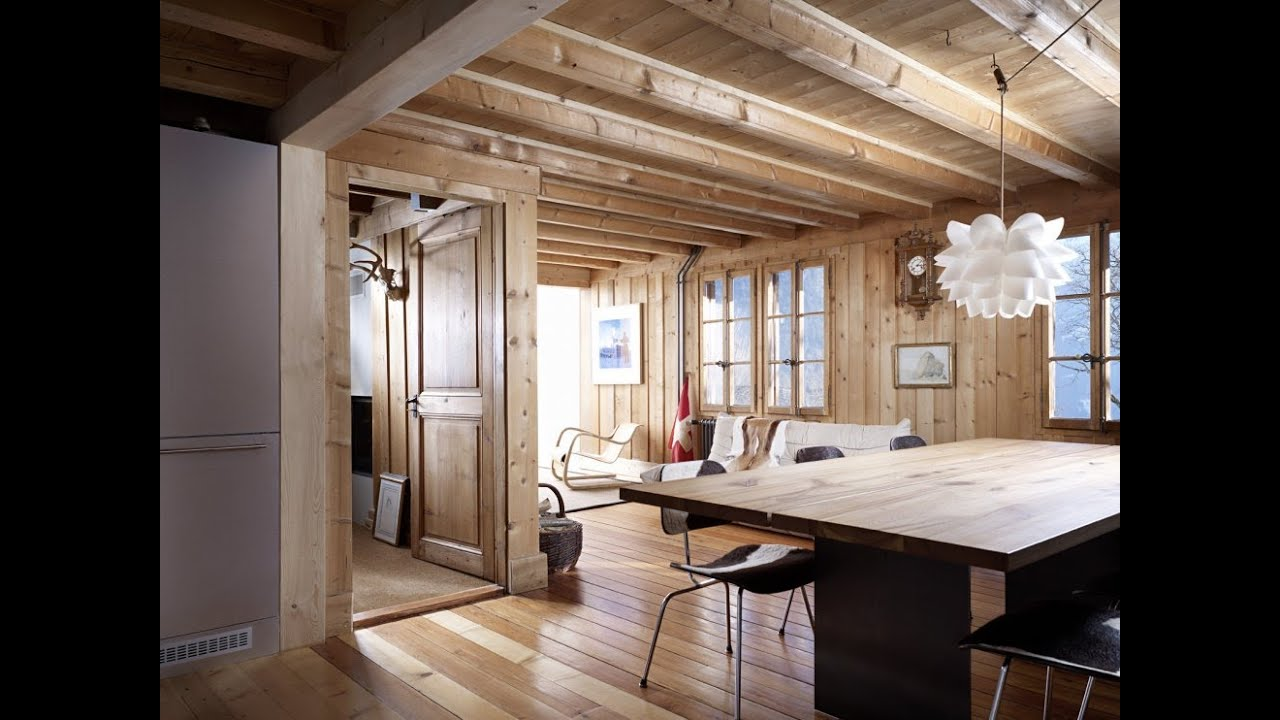 Unique House Design Extension Of A Log Cabin In The Swiss Alps By Lacroix Chessex