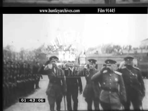 Civil War in Russia in 1919.  Western involvement.  Archive film 91445