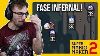 NEM ACREDITO QUE PASSEI DESSA FASE!!! - Super Mario Maker 2