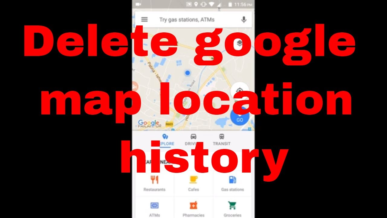 How to delete or clear google map location history & location ... Clear History Google Maps on