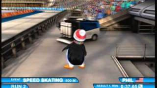 Winter Sports 2: The Next Challenge (Xbox 360) Speed Skating 500m Gameplay