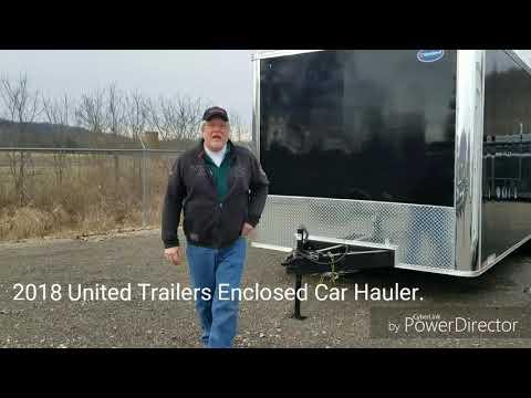 2018 United Trailers Enclosed Car Hauler