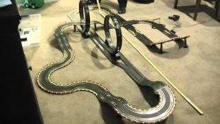 "Toys ""R"" Us Fastlane Racing Long Bridge Challenge Slot car track"