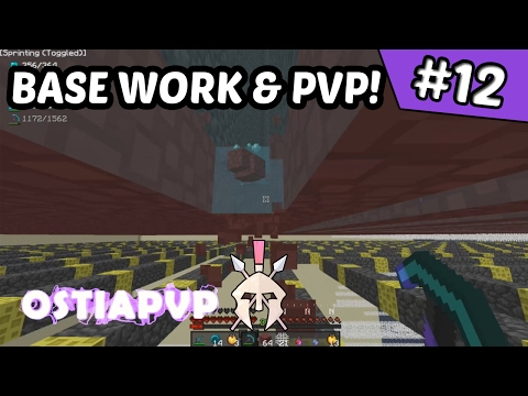 Base work & stopping raids!! | OstiaPvP #12 (Minecraft Factions)