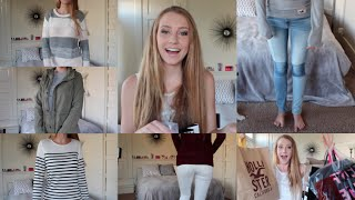 Fall Fashion Haul + Try On | Forever21, AE, Vans & MORE Thumbnail