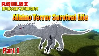 Roblox Dinosaurier Simulator - Albino Terror Überleben Leben - Teil 1