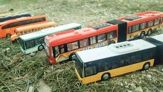 Toy Cars Slide Dlan play Sliding Cars video for kids (NEW Bus Sliding)