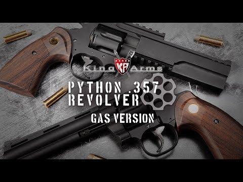 Python  357 Revolver Gas Version - King Arms - YouTube