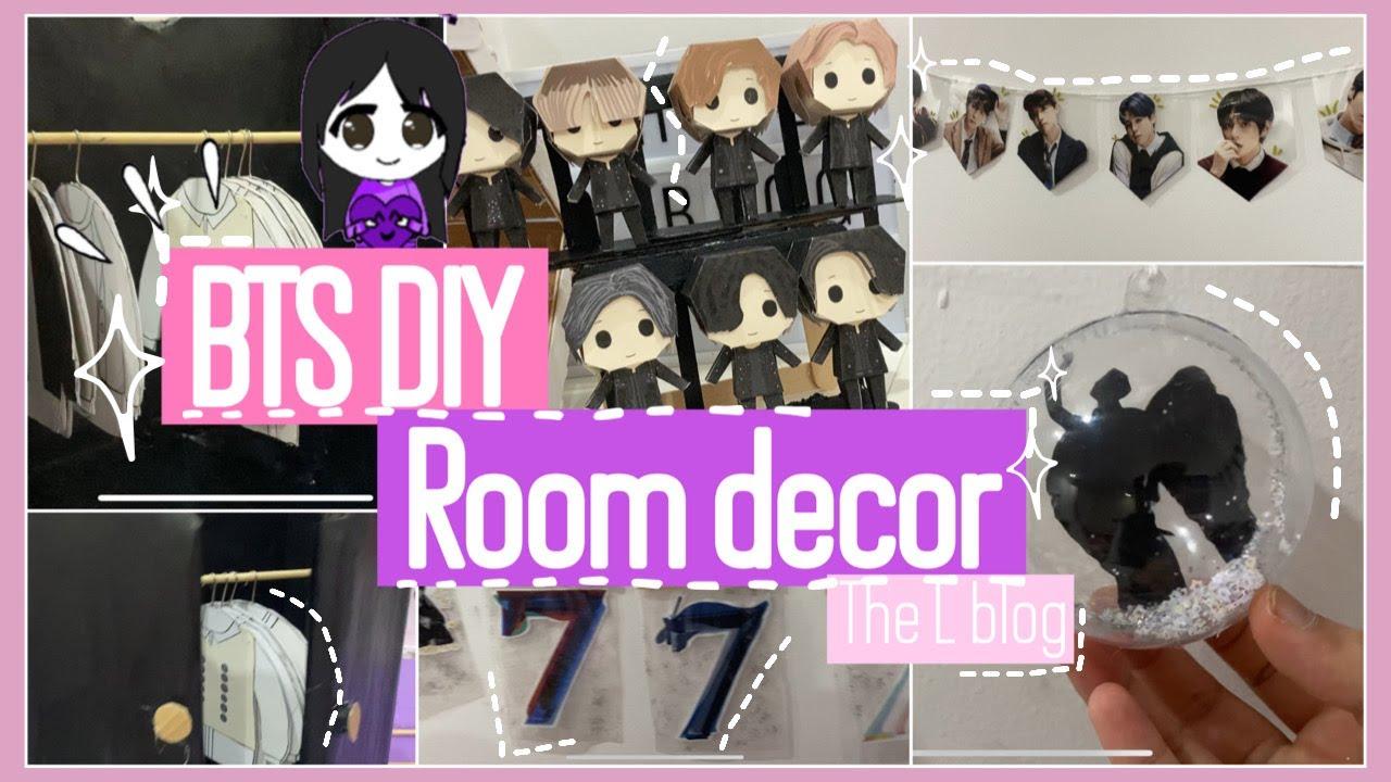 BTS DIY room decor aesthetic easy 2020 - YouTube