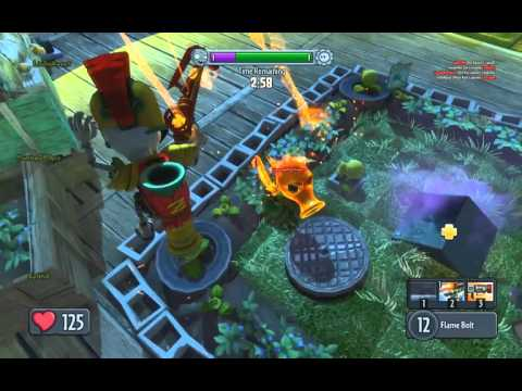 PvzGW - driftwood smoke cover to the crates then leap to the garden