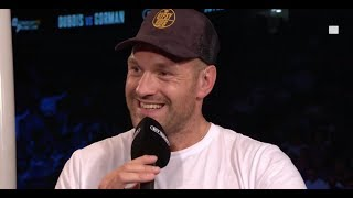 Fury: I'll go to America in February and kick Wilder's arse again!