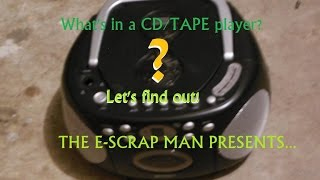 E-Waste Scrapping: A CD/Tape Player!