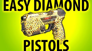 BLACK OPS 3 - HOW TO GET EASY DIAMOND CAMO PISTOLS ItsMikeyGaming
