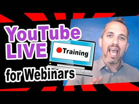 How to use YouTube LIVE for Webinars FULL TUTORIAL (video marketing)