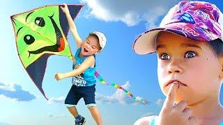 Flying kite and the kid flying. #ЭрикШоу