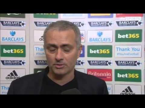 Match Stoke City Vs Chelsea 3 2 Goals & Highlights 2013   Jose Mourinho Post Match Interview