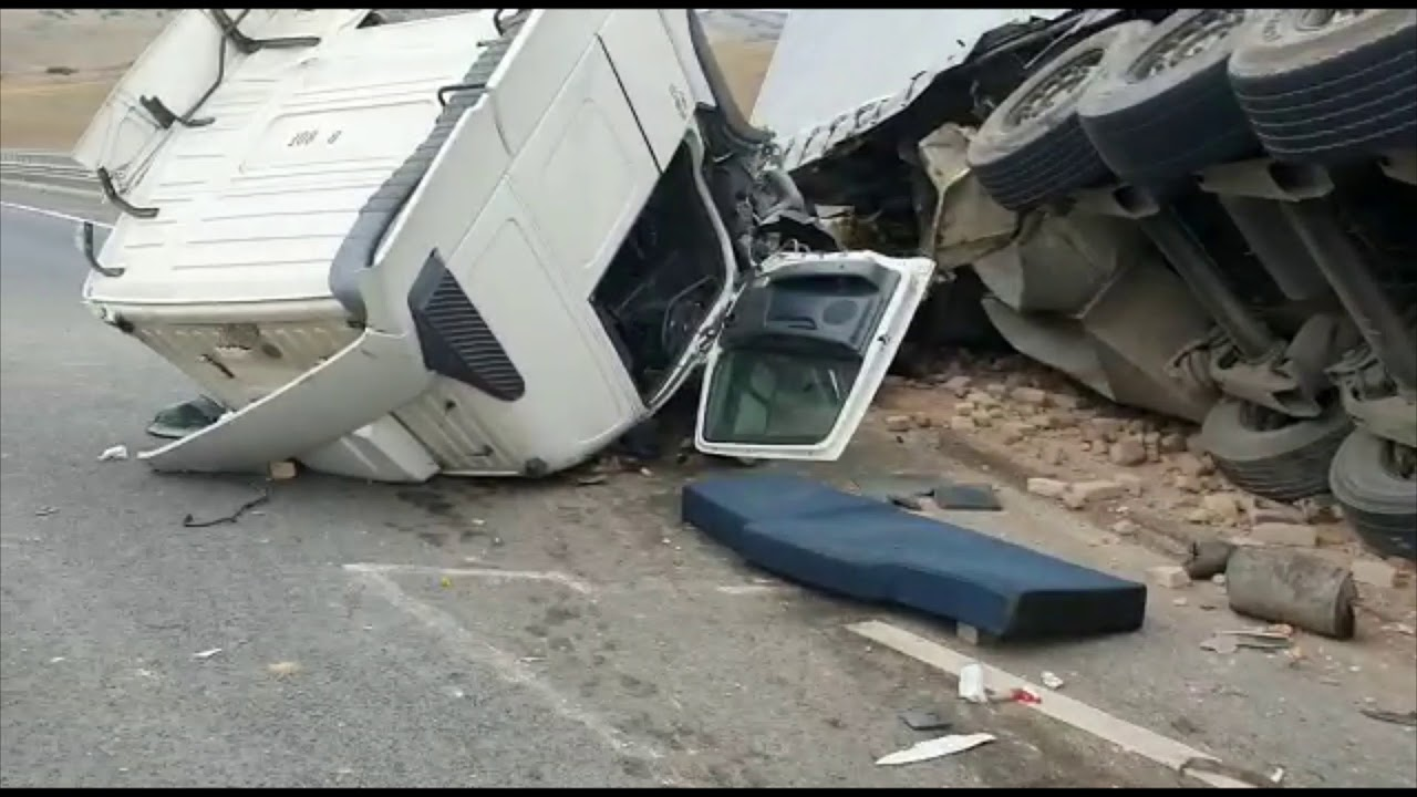 Accident - TIR răsturnat pe A10 (24.09.2019)