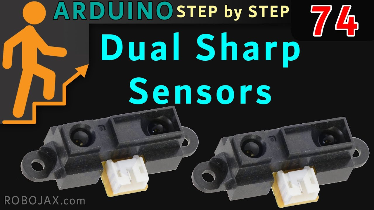 Using 2 or Sharp Infrared Sensor Module with Arduino