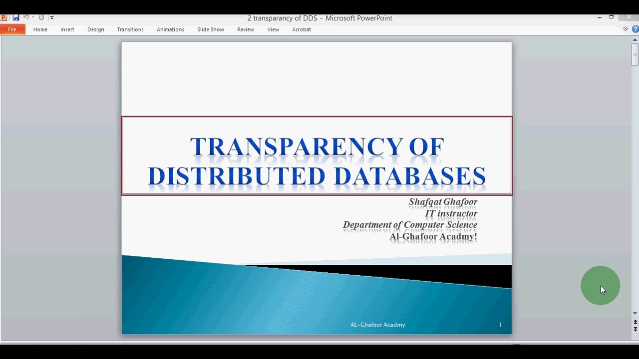 Distributed Database Transparncy Its Type In Urdu Hindi Youtube