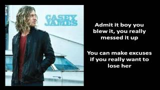[Lyrics On Screen] Casey James - Cryin On A Suitcase [Casey James