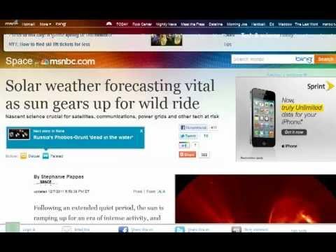 Solar Flares finally reach mainstream news