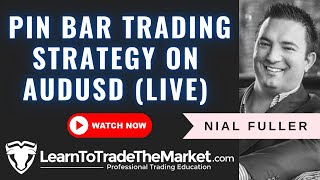 Pin Bar Trading Strategy on AUDUSD (Live Trade)
