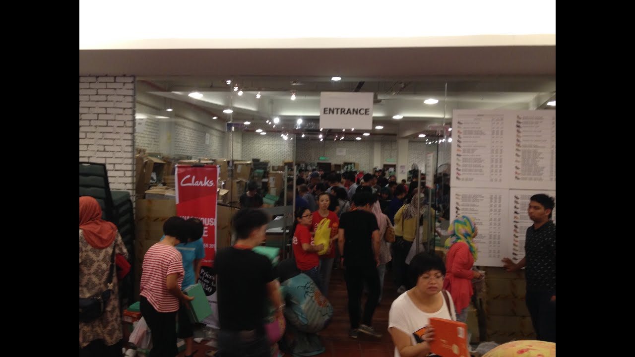 55fa29d49888f6 Clarks Warehouse Sale in Malaysia - YouTube