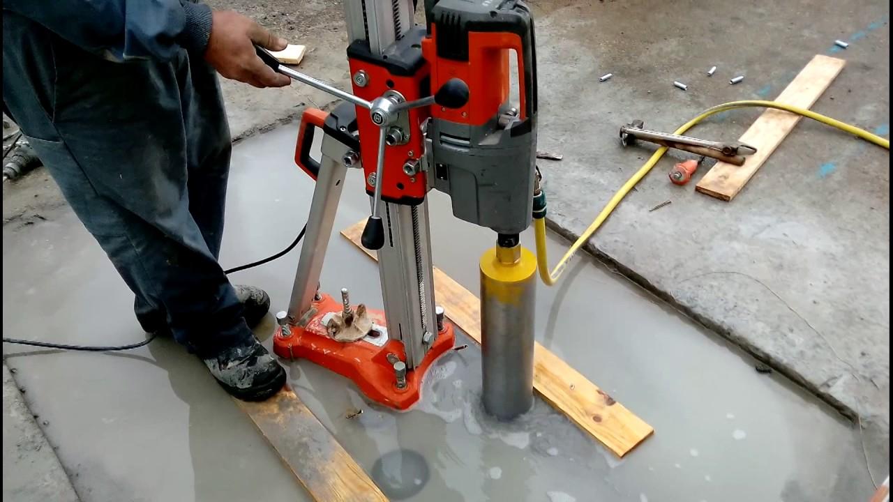 Perforadora de hormig n youtube - Como hacer una solera de hormigon ...