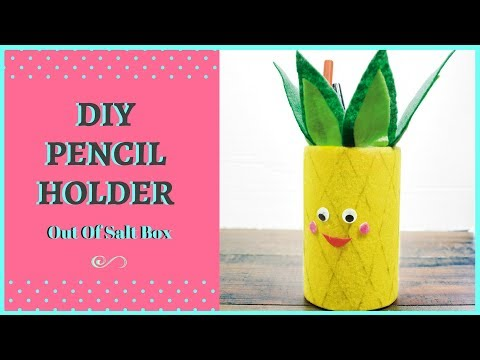 DIY Pineapple Pencil Holder/ Pen Stand   Passionate Moms