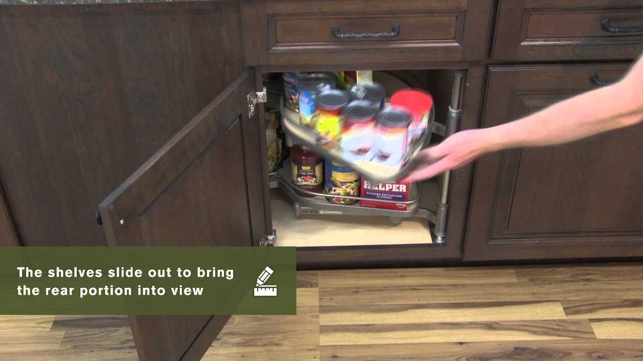 Schuler Cabinetry: Base Blind Corner With Pull Out Storage, Kitchen Storage  Part 20   YouTube